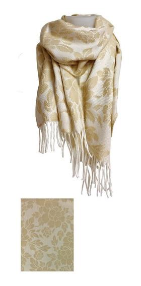 Bufanda Con Diseño De Flores Flow Sand Goldo Bit/goldin