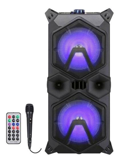 Caixa De Som Amplificada Mp3 220w Sumay Bluetooth Microfone