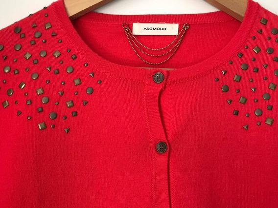 Cardigan Sweater Yagmour Con Tachas