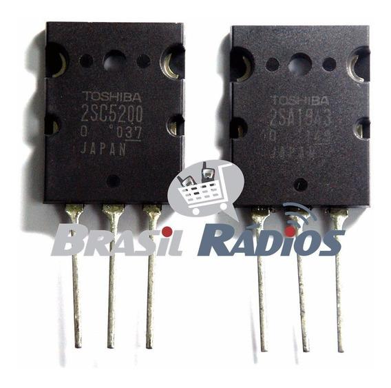 2 Pares Transistor 2sa1943 E 2sc5200 Toshiba