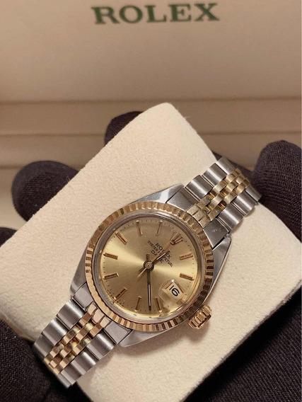 Rolex Date Lady Aço E Ouro , Jubileu , Impecável , Promoção!