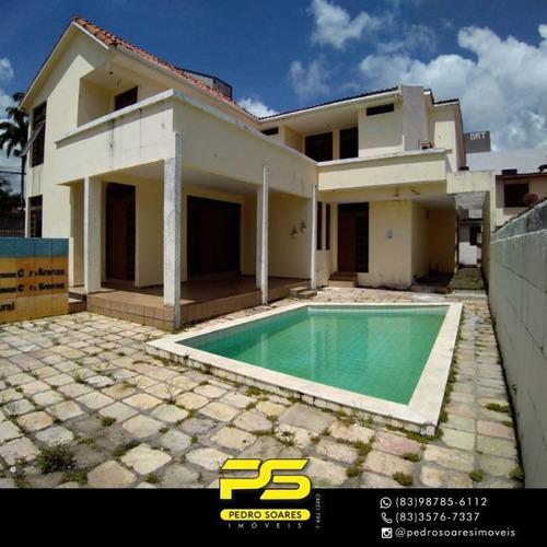 Casa Com 4 Dormitórios À Venda, 400 M² Por R$ 650.000 - Cristo Redentor - João Pessoa/pb - Ca0869