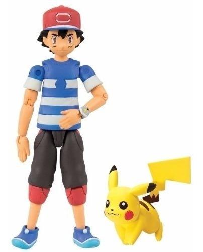 Boneco De Açao Pokemon Pikachu Ash Greninja Mewtwo Machamp