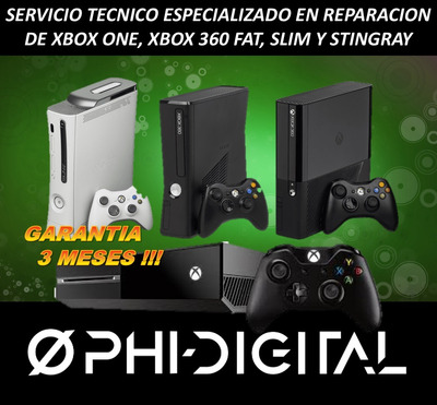 Servicio Técnico Reballing Xbox One 360 Slim Stingray Fat