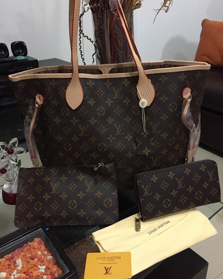 Cartera Neverfull Neceser Y Billetera Louis Vuitton