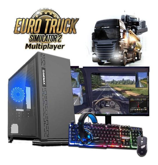 Pc Gamer Eurotruck Completo Com Monitor + Kit Gamer Nfe Wifi