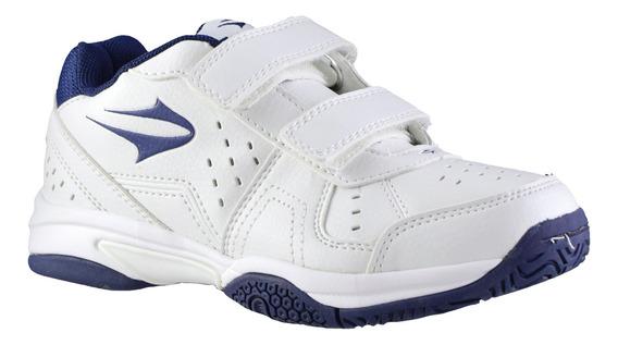Zapatillas Topper Colegial Rookie Abrojo Blanco Azul