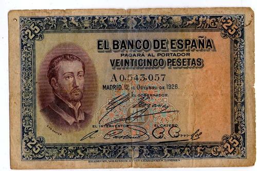 Argentvs * España Billete De 25 Pesetas 1926 - P#71a