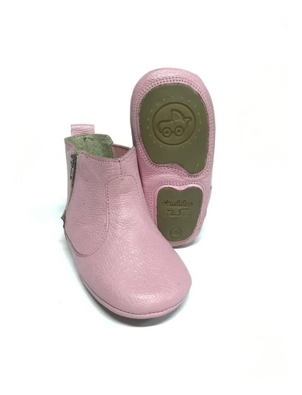 Botinha Bota Botina Infantil Country Rosa P/ Bebes / Bebês