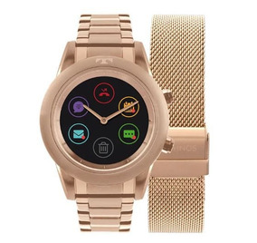 Relógio Smartwatch Technos Connect Duo Rose Fem P01ae/4p