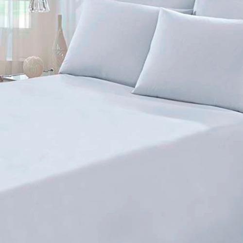 Lençol Branco Avulso King Com Elástico (193x203cm)  Cyrstal