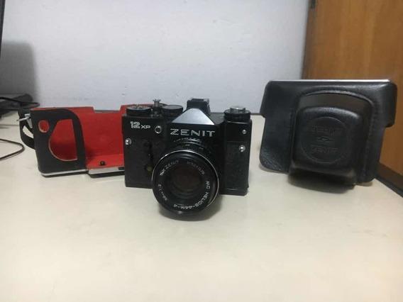 Máquina Fotográfica Zenit 12 Xp Ótimo Estado Com Acessórios