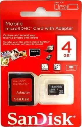 Cartão De Memória Micro Sd Sdhc 4g Sandisk
