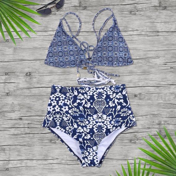 Traje De Baño Mujer Bikini Bottom Alto