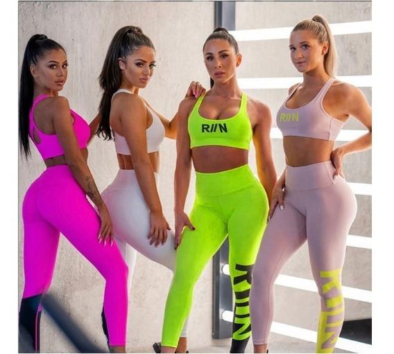 Calza + Top Armado Deportiva Mujer Importada Art17-885