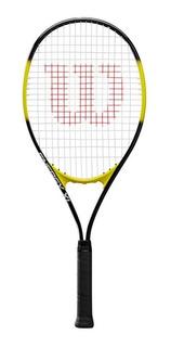 Raqueta Tenis Wilson Grip 4 3/8 + Funda Estuche Encordado Tennis Juego