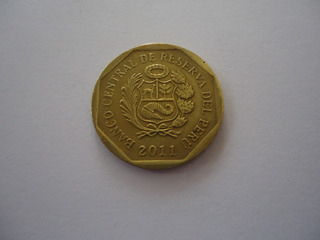 Moeda Bronze 10 Centavos Centimos Soles Ouro 2011 Peru