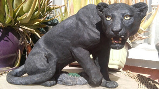 Estatua Coleccionable 21 Años Living Stone Black Panter