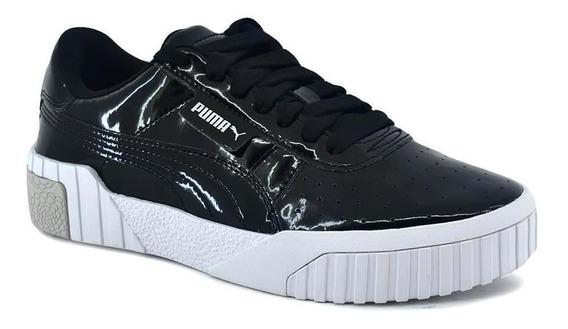 Zapatilla Puma Mujer Cali Patent Jr Negro
