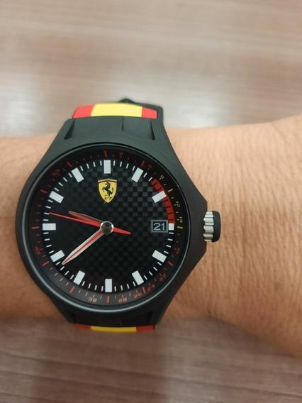 Relogio Ferrari Pulseira De Borracha Original