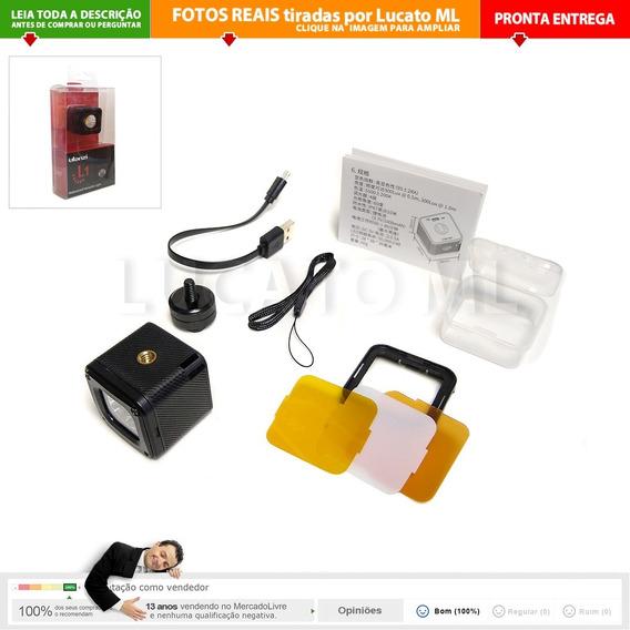 Iluminador Led L1 P/ Foto Vídeo + 3 Filtros + S. Sapata   Nc
