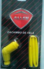 Cachimbo Vela Titan125/150/ybr Silicone Amarelo
