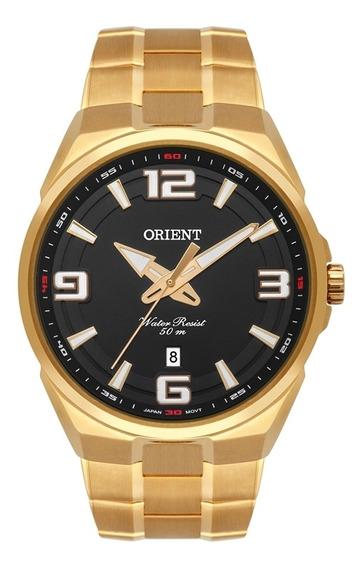 Relogio Masculino Orient Dourado Mgss1162p2kx
