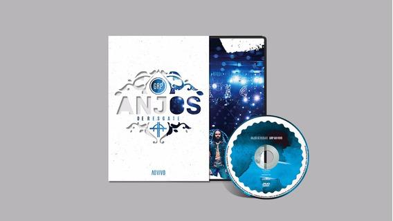 Dvd Anjos De Resgate Grp Ao Vivo - Original