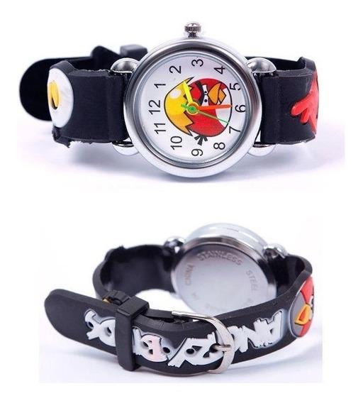 Relógio Angrybird Infantil Criança Pulseira 3d