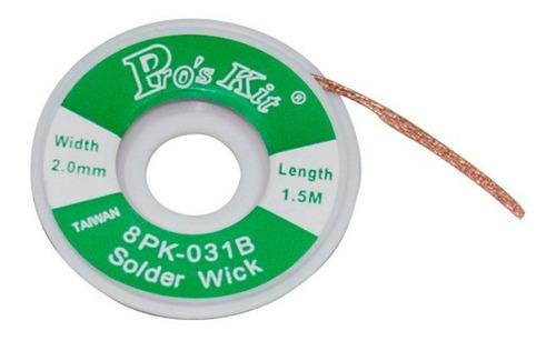Malla Cinta Desoldante Proskit 2mm Para Desoldar De Cobre 1.5 Metros Ideal Electrónica