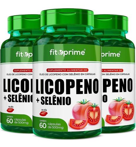 Imagem 1 de 3 de 3 Potes Licopeno + Selênio 500mg 60cps Fitoprime