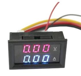 Amperimetro Voltimetro 0 100v 10a Dual Display Led Favix