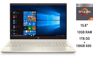 Laptop Hp 15-cw1012la Ryzen 3 12gb Ram 1tb + 128gb Ssd Nueva