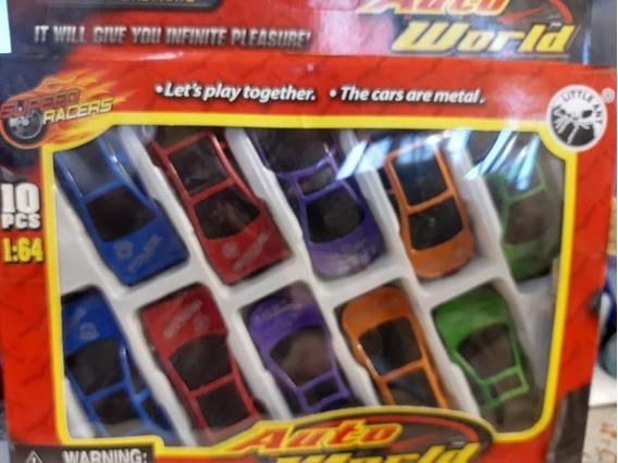 Set De 10 Autos Super Racers 1:64