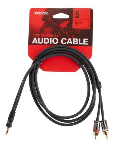 Imagen 1 de 3 de Planet Waves Custom Series Cable Miniplug A Rca 1,5 Metros