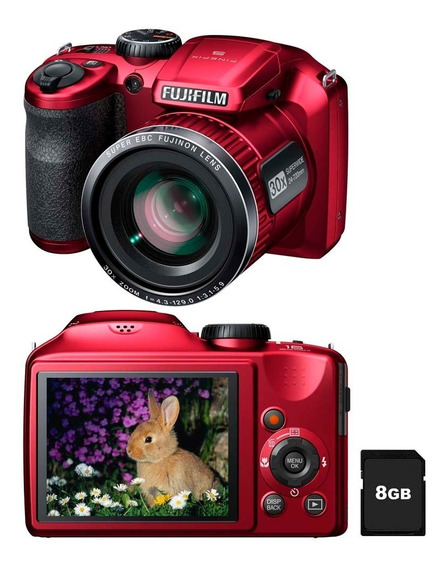 Camera Digital Fujifilm S4800 Vermelha