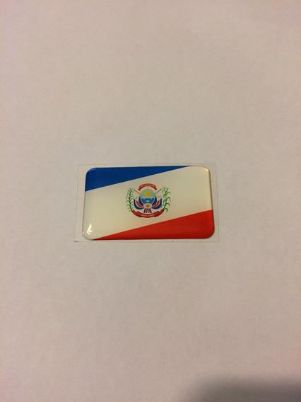 Adesivo Resinado Da Bandeira Da Cidade De Itumbiara 5x3 Cm