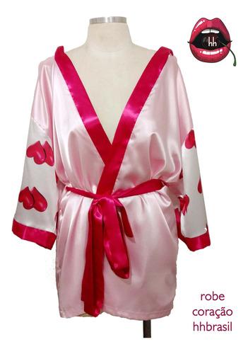 Kit Robe Com Capuz, Shorts Doll Ou Samba Canção Tamanho G