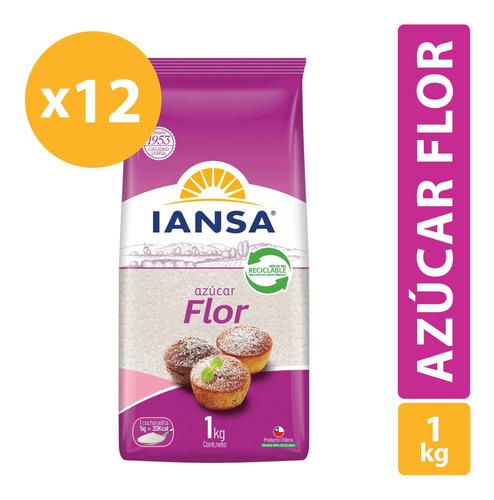 Azúcar Flor Iansa 1kg Pack 12 Unidades