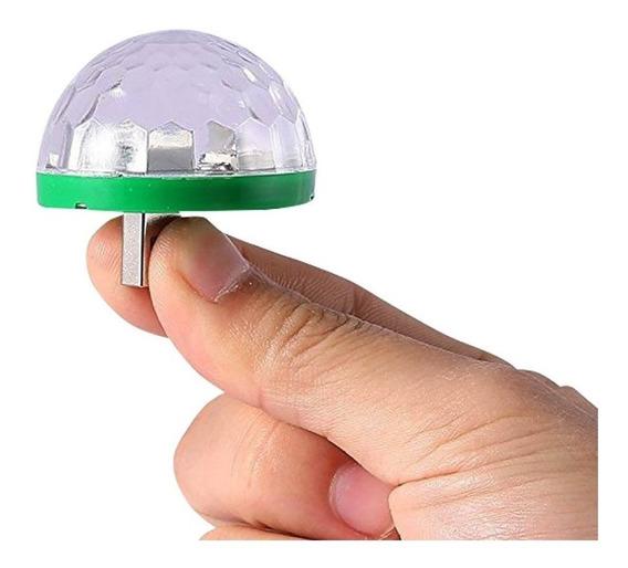 Mini Esfera Para Celular Luminosa Rgb Usb Otg Audiorritmica