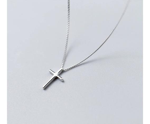 Colar Cordão Crucifixo Cruz Cristo Pingente Em Prata 925