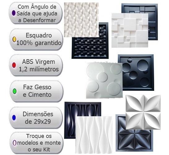 Kit 5 Formas De Gesso 3d E Cimento Abs 1,2mm 29x29 Promoção
