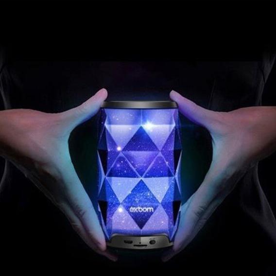 Caixa De Som Bluetooth Com Iluminação De Led Rgb