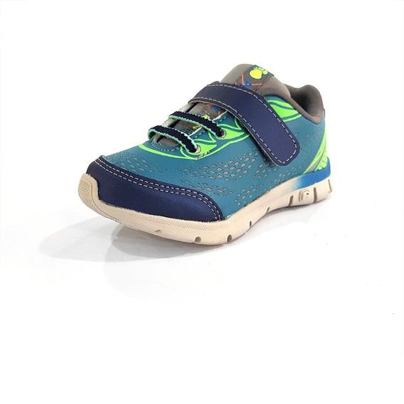 Tênis Pé Com Pé Guty Runner Azul Marinho/verde (415) - 15054