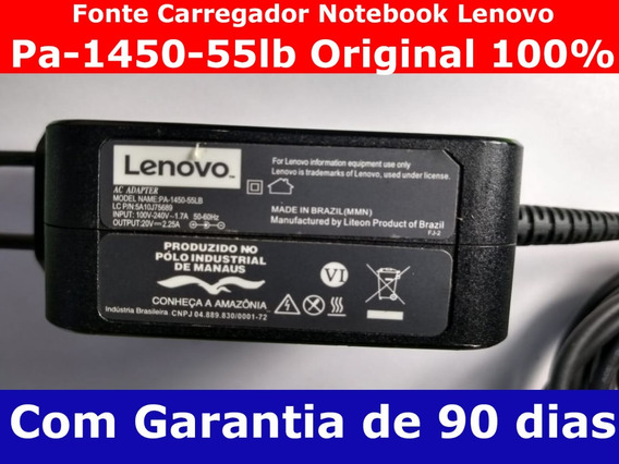Fonte Carregador Notebook Lenovo Pa-1450-55lb Original 100%