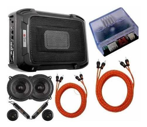 Caixa Slim + Kit 2 Vias 5 + Módulo Amplificador + Rca Cabos