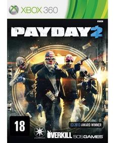 Pay Day 2 Jogo De Xbox 360 Original - Mídia Física Lacrado