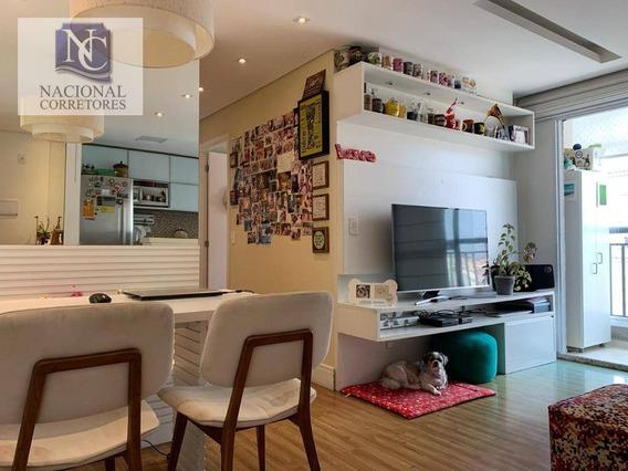 Apartamento Com 2 Dormitórios À Venda, 50 M² Por R$ 265.000 - Vila Metalúrgica - Santo André/sp - Ap10091