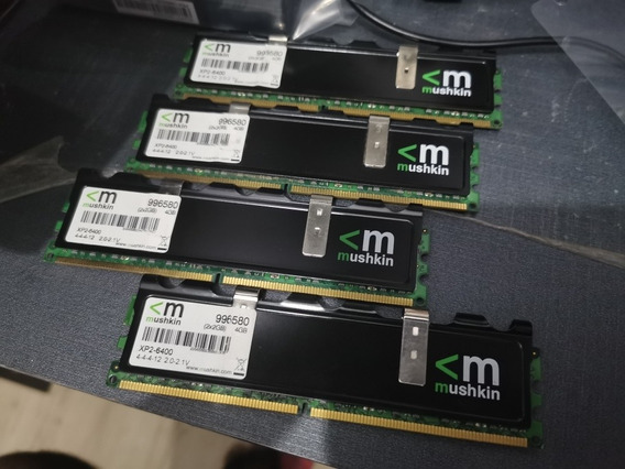 Mushkin Blackline 8gb (4x2gb) Ddr2 800mhz C4 @1100mhz C5 Top