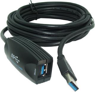 Cable Alargue Usb 3.0 Activo 5mt Metros Macho Hembra
